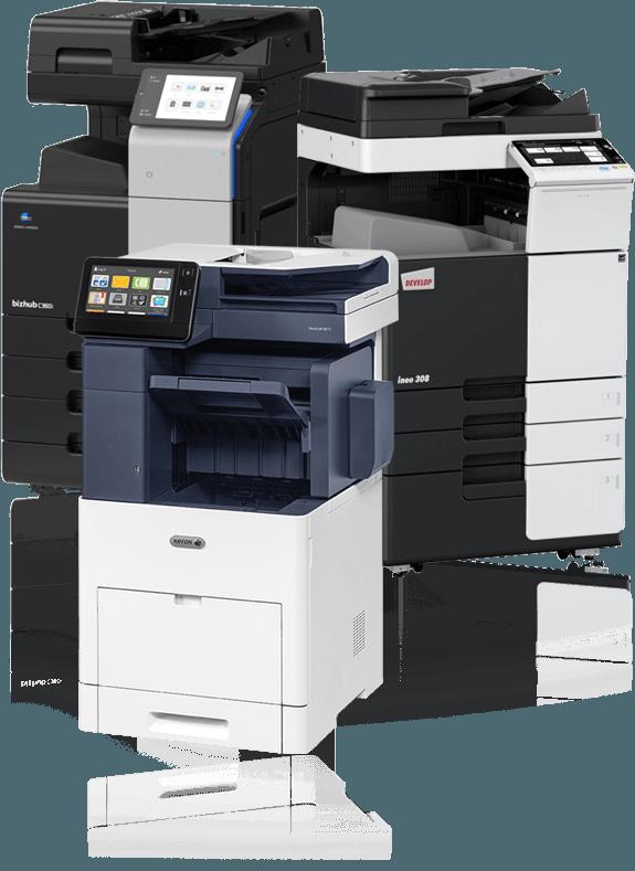 Kopimaskine og printerløsninger fra Xerox, Develop Ineo, koniva Minolta
