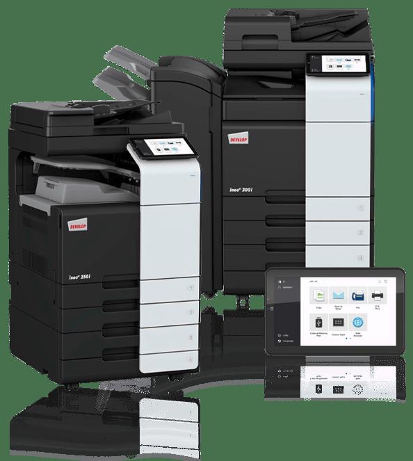 Kopimaskine fra Xerox, Develop Ineo og konica Minolta